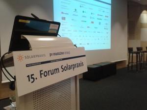 Zwei Tage lang diskutiert die Branche zum Forum Solarpraxis die Zukunft der Photovoltaik. Foto: Rutschmann