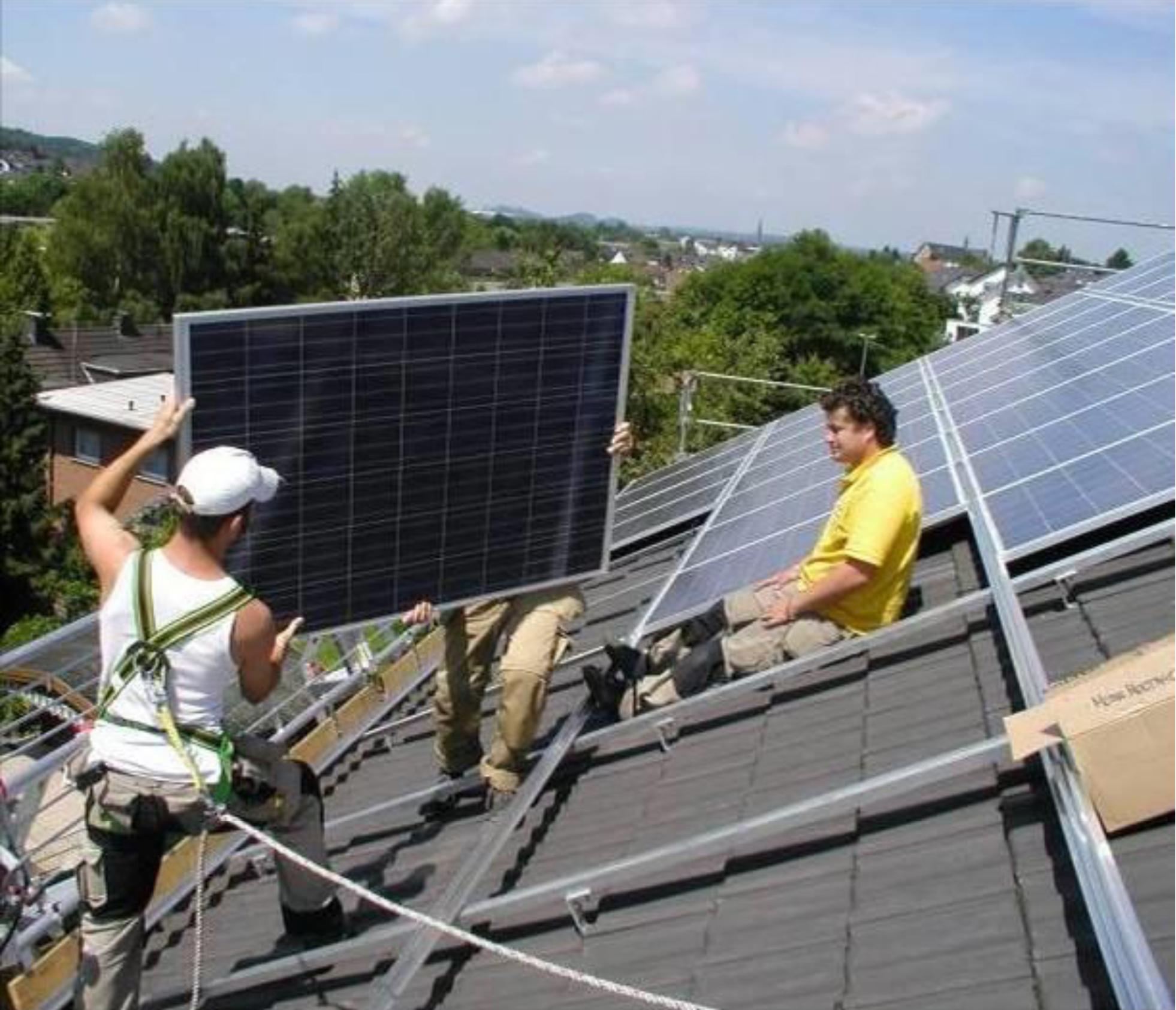 Top Die Gerüstkosten sind unabdingbarer Bestandteil eines Photovoltaik RC28