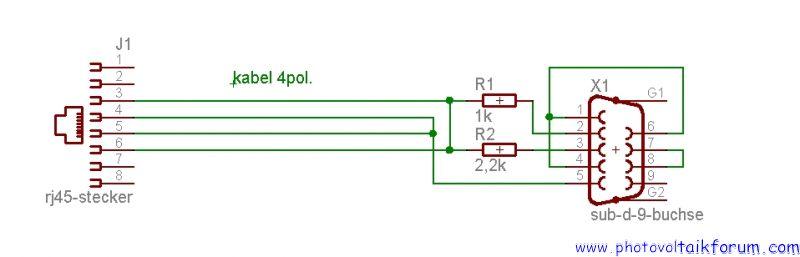 Datenkabel für Mastervolt QS Wechselrichter• Photovoltaikforum